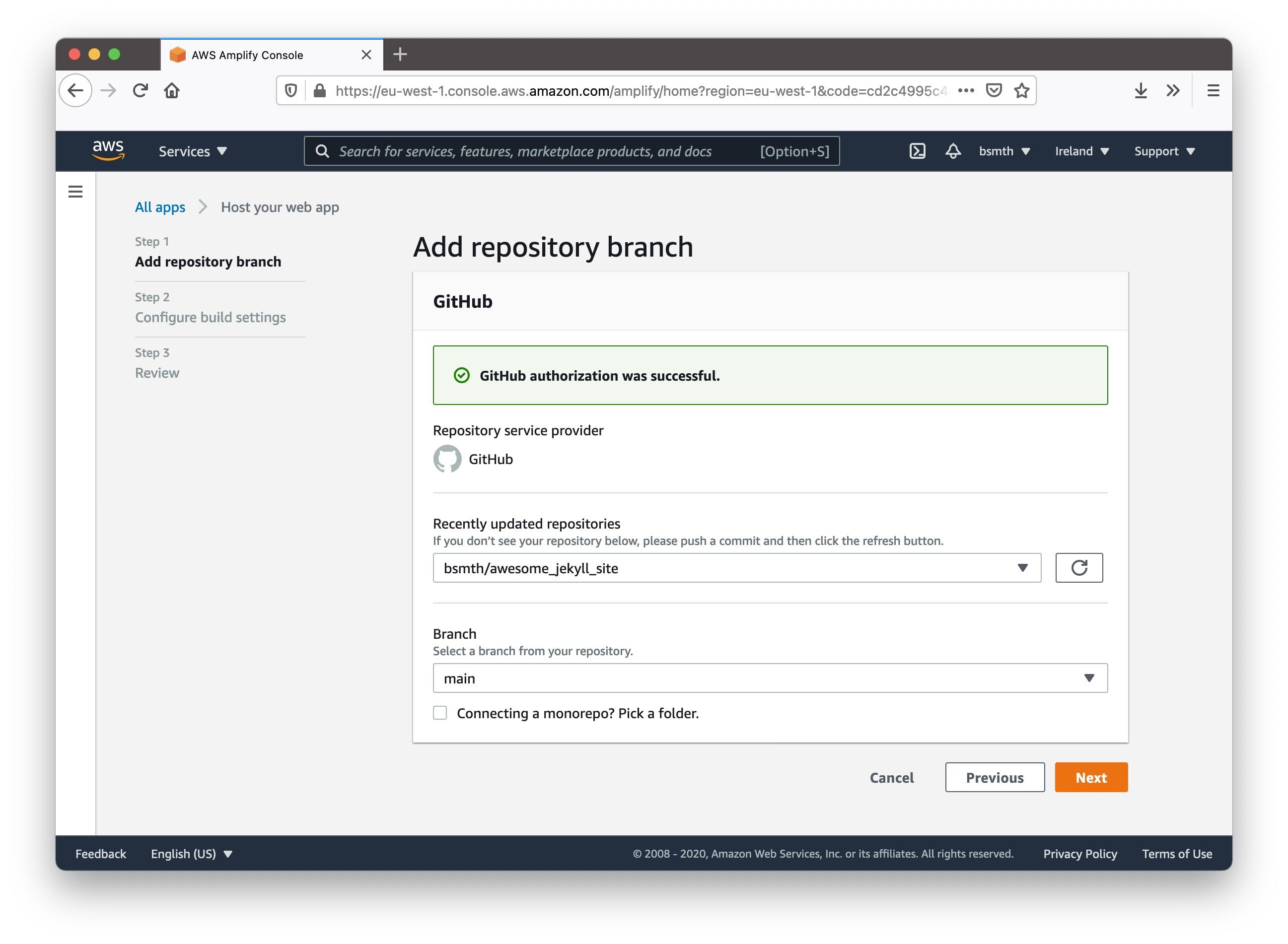 """""""Authorizing AWS Amplify with GitHub"""""""